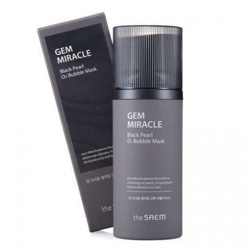 Кислородная маска для лица The Saem Gem Miracle Black Pearl O2 Bubble Mask, 10 гр.