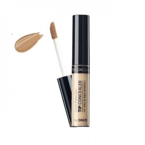 Консилер для маскировки недостатков кожи The Saem Cover Perfection Tip Concealer 1.75 Middle Beige, 6,5 гр.