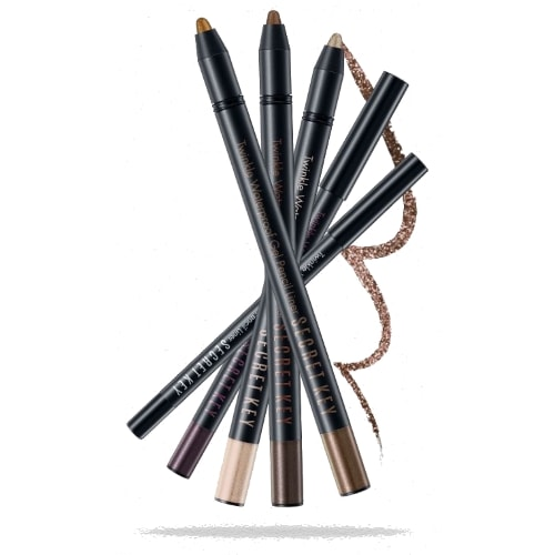 Карандаш для глаз водостойкий Secret Key Twinkle Waterproof Gel Pencil Liner Real Black, 0,5 гр.