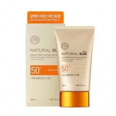Осветляющий солнцезащитный крем для лица Natural Sun Eco Power Longlasting Sun SPF50+/PA+++, 50 мл