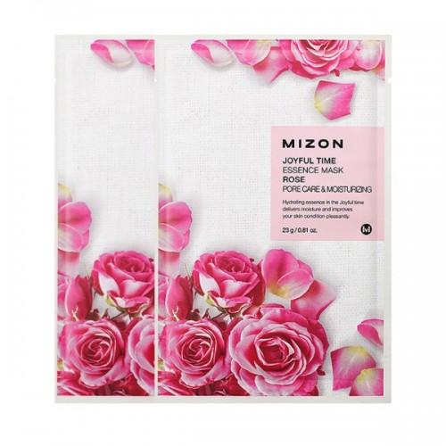 Тканевая маска для лица Joyful Time Essence Mask Rose с экстрактом лепестков розы, 23 мл