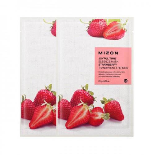 Тканевая маска для лица Joyful Time Essence Mask Strawberry с экстрактом клубники, 23 мл