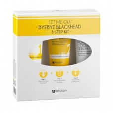 Трехступенчатый комплекс для борьбы с чёрными точками Let Me Out Byebye Blackhead 3-Step Kit, 35+35+30 мл