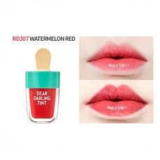 Увлажняющий гелевый тинт для губ Etude House Dear Darling Water Gel Tint Watermelon Red красная дыня, 4,5 мл