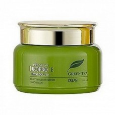 Крем для лица Premium Deoproce Green Tea Total Solution Cream с экстрактом зеленого чая, 100 мл