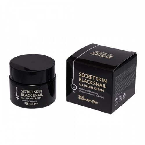 Крем для лица Secret Skin Black Snail All in One с муцином черной улитки, 50 гр.
