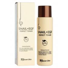 Тонер для лица Secret Skin Snail & EGF Perfect Toner с муцином улитки, 150 мл