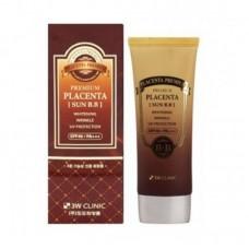 Омолаживающий ВВ крем 3W CLINIC Premium Placenta Sun BB Cream SPF40/PA+++ с экстрактом плаценты, 70 мл