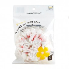 Мочалка для душа Sungbo Cleamy Flower Shower Ball 12 см, 1 шт.