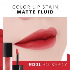 Помада для губ матирующая A'Pieu Color Lip Stain Matte Fluid RD01 Hot & Spicy, 4,4 гр.