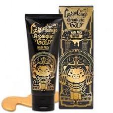 Золотая омолаживающая маска пленка Elizavecca Hell Pore Longolongo Gronique Gold Mask Pack, 100 мл