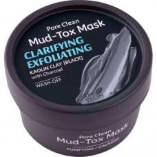 Маска для лица с каолиновой глиной TheYEON Pore Clean Mud-Tox Mask Black, 80 гр.