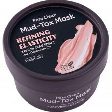 Маска для лица с каолиновой глиной TheYEON Pore Clean Mud-Tox Mask Pink, 80 гр.