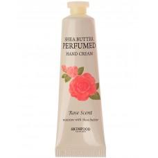 Крем для рук парфюмированый Skinfood Shea Butter Perfumed Hand Cream Rose Scent, 30 мл.