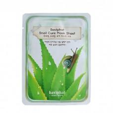 Маска для лица тканевая улиточная Baviphat Snail Cure Mask Sheet, 25 гр.