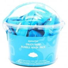 Пузырьковая очищающая маска для лица Ayoume Enjoy Mini Bubble Mask Pack, 30*3 гр.