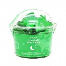 Ночной крем с центеллой азиатской Ayoume Enjoy Mini Night Cream, 30*3 гр.