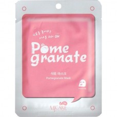 Тканевая маска для лица Mijin MJ CARE Pomegranate Mask с гранатом, 22 гр.