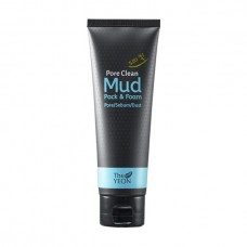 Маска-пенка для лица на основе каолиновой глины The Yeon Pore Clean Mud Pack & Foam, 120 мл