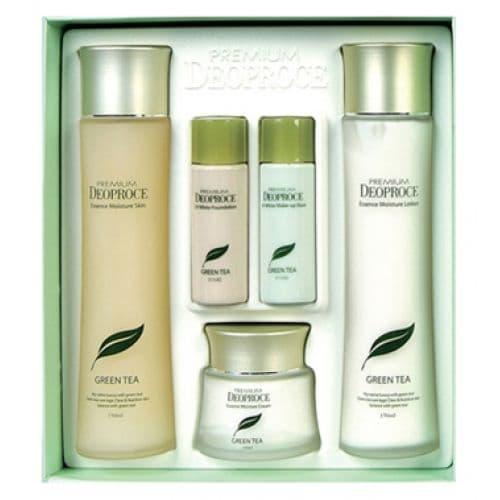 Подарочный набор Premium Deoproce Green Tea Total Solution 3 Set (B), 150 мл х 2 / 60 мл / 30 мл х 4