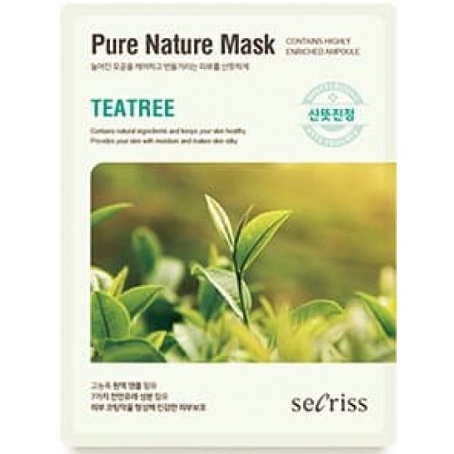 Тканевая маска для лица Anskin Secriss Pure Nature Mask Pack Tea Tree, 25 мл