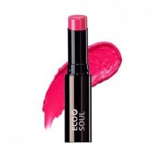 Увлажняющая помада для губ сияющая The Saem Eco Soul Moisture Shine Lipstick PF01 Hadong Pink, 5,5 гр.
