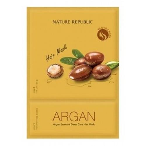 Маска для волос Nature Republic Argan Essential Deep Care Hair Mask с арганой, 15 мл
