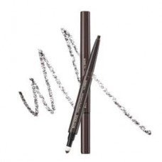 Карандаш для бровей 3 в1 The Saem Eco Soul Designing Eyebrow Dark Brown, 0,2 гр.+ 0,12 гр.