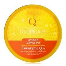 Очищающий крем для лица Premium Deoproce Clean & Deep Coenzyme Q10 Cleansing Cream с коэнзимом, 300 гр.