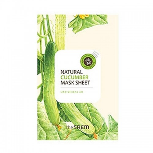 Тканевая маска для лица The Saem Natural Cucumber Mask Sheet с экстрактом огурца, 21 мл