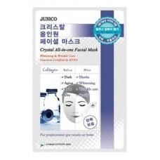 Тканевая маска для лица Mijin Junico Crystal All-in-one Facial Mask Collagen c коллагеном, 25 гр.