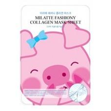 Тканевая маска для лица Milatte Fashiony Collagen Mask Sheet с коллагеном, 21 гр.