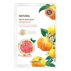 Тканевая маска для лица The Saem Natural Skin Fit Mask Sheet Grapefruit с экстрактом грейпфрута, 20 мл