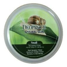 Крем для лица и тела Deoproce Natural Skin Snail Nourishing Cream с муцином улитки, 100 гр.