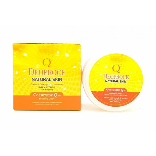 Крем для лица и тела Deoproce Natural Skin Coenzyme Q10 Nourishing Cream, 100 гр.