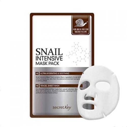 Тканевая маска для лица Secret Key Snail Intensive Mask Pack с муцином улитки, 20 гр.