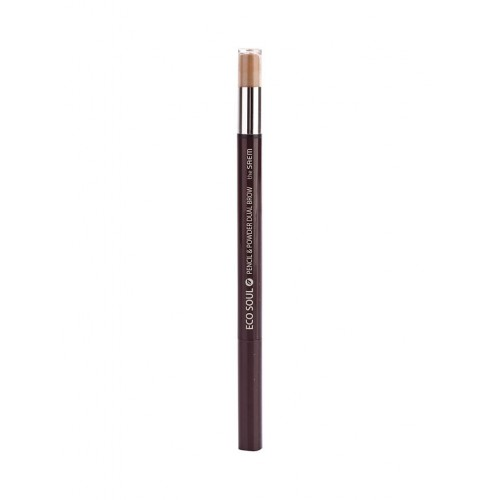 Карандаш-пудра для бровей The Saem Eco Soul Pencil & Powder Dual Brow Natural Brow, 0,5 гр.*0,3 гр.