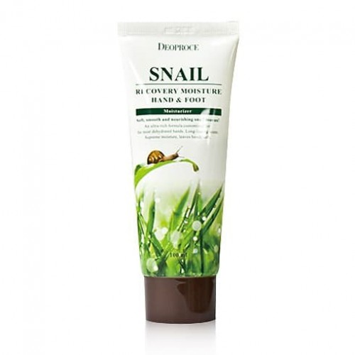 Крем для рук и ног Deoproce Snail Recovery Moisture Hand & Foot Cream, 100 мл
