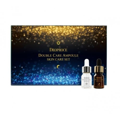 Сыворотка для лица антивозрастная набор Deoproce Double Care Ampoule Set Day & Night, 13 мл