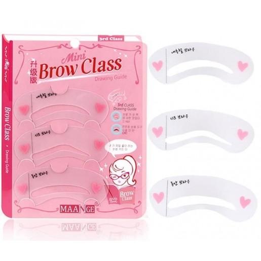 Трафареты для макияжа бровей Secret Key Self Drawing Brow Guide, 3 шт.