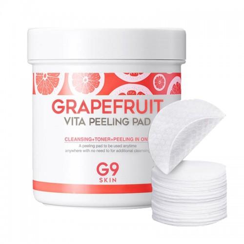Ватные диски для пилинга G9SKIN Grapefruit Vita Peeling Pad, 200 гр.