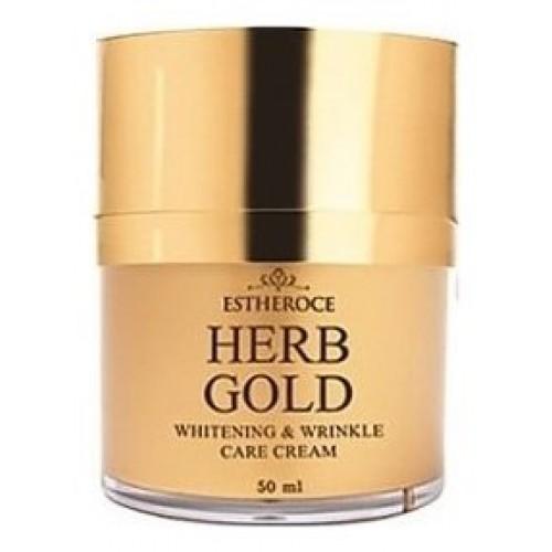 Крем для лица омолаживающий estheroce herb gold whitening & wrinkle care cream, 50 мл