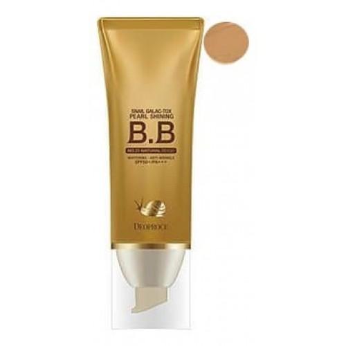 BB крем сияющий Deoproce Snail Galac-Tox Pearl Shining BB Cream 23 с муцином улитки, 40 гр.