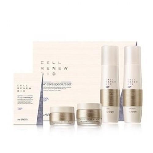 Подарочный набор для женщин The Saem Cell Renew Bio Skin Care Special 3 Set, антивозрастной,150 мл*150 мл*60 мл*30 мл