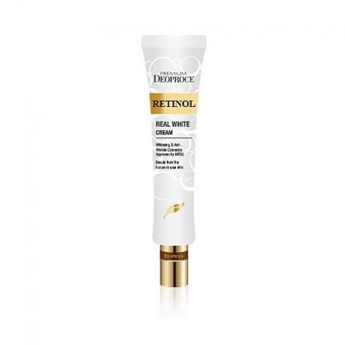 Крем с ретинолом для век и носогубных складок Premium Deoproce Retinol Real White Cream, 40 мл