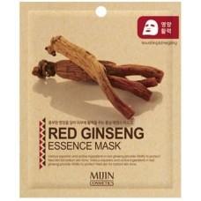 Тканевая маска для лица Mijin Red Ginseng Essence Mask с красным женьшенем, 25 гр.