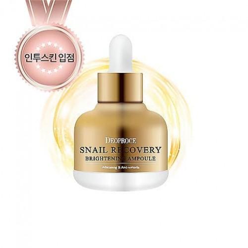 Сыворотка для лица Deoproce Snail Recovery Brightening Ampoule с муцином улитки, 30 мл