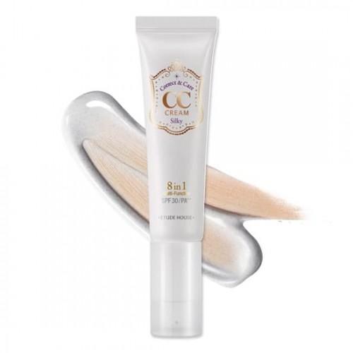 Многофункциональный СС крем Etude House Correct and Care CC Cream 01 Silky, 35 гр.