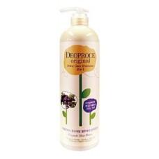Шампунь-бальзам для волос Deoproce Original Shiny Care 2 in 1 Shampoo Blueberry, черника, 1000 мл