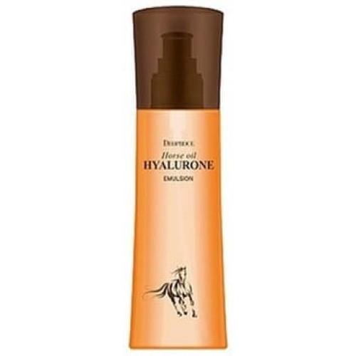 Эмульсия для лица Deoproce Horse Oil Hyalurone Emulsion с гиалуроновой кислотой и лошадиным жиром, 380 мл